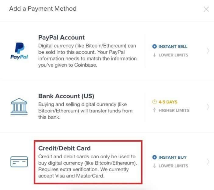 Coinbase payment method Step 4 - Pic 5