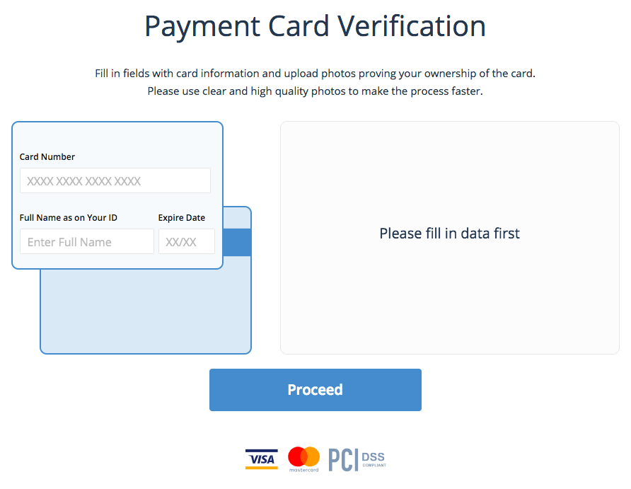 Buy & Sell Payment Card Verification