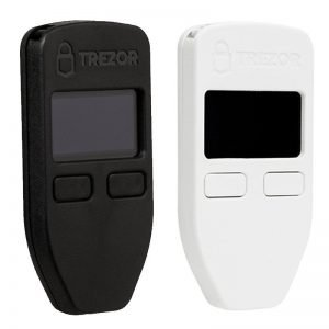 Trezor Bitcoin Wallet Black White