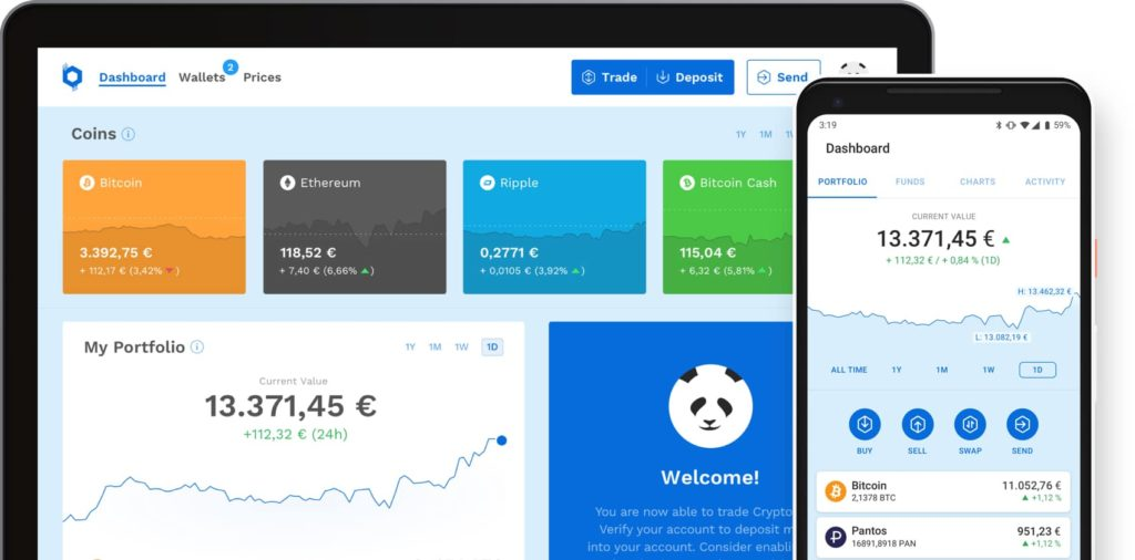 BitPanda Dashboard For Trading