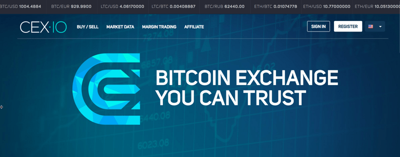 CEX IO Home Page - Bitcoin Exchange You Can Trust
