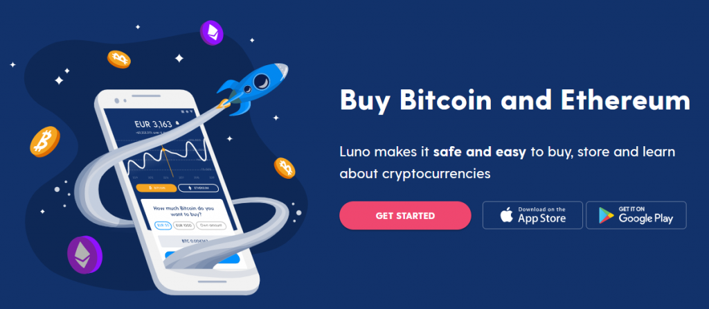 Luno Wallet - Homepage Dashboard