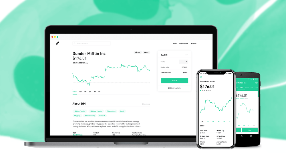 Robinhood Dashboard - Mobile App And Desktop Portfolio