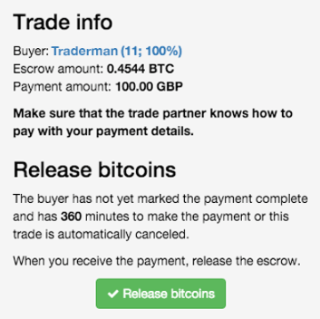 LocalBitcoins - Trade Escrow