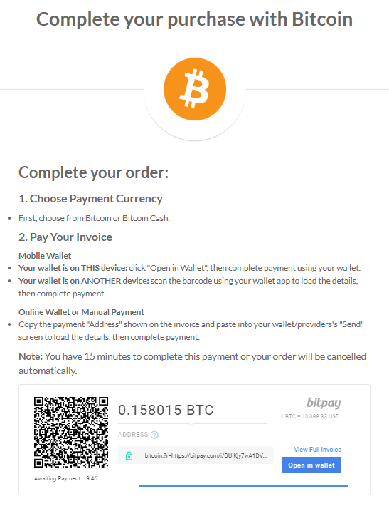GoldSilver Step 5 - Complete Your Purchase With Bitcoin