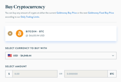 Goldmoney - Buy Bitcoin