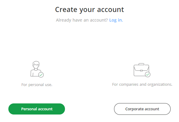 Bitstamp - Create your account