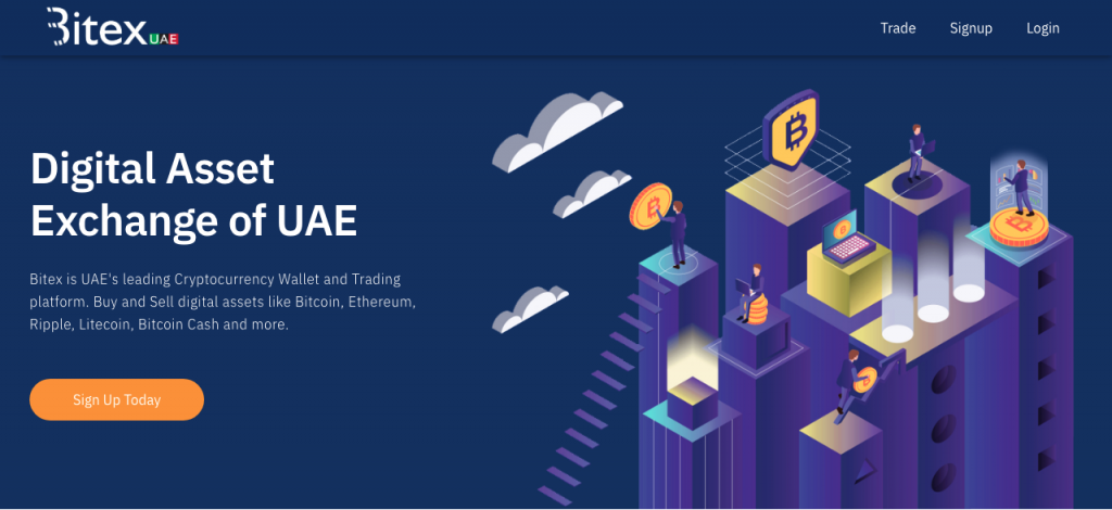 Bitex UAE Homepage