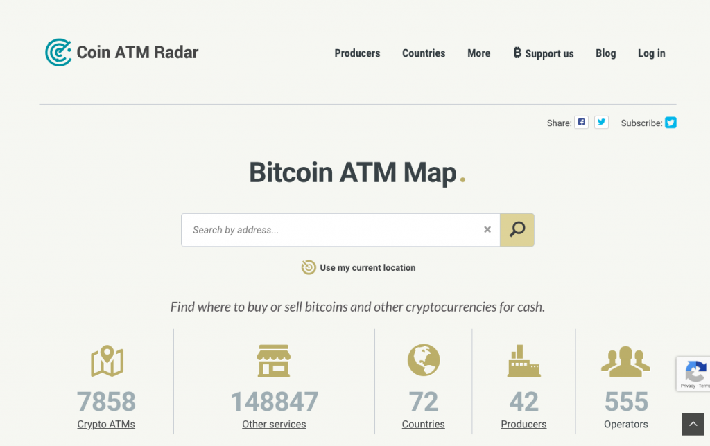 Coin ATM Radar Homepage