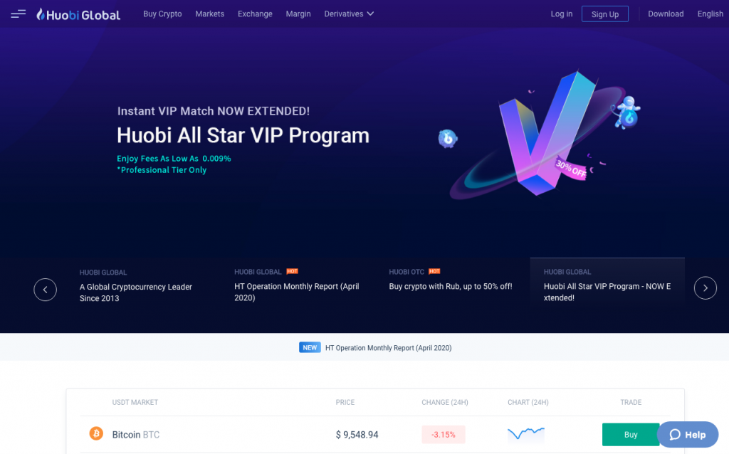 Huobi Global Homepage