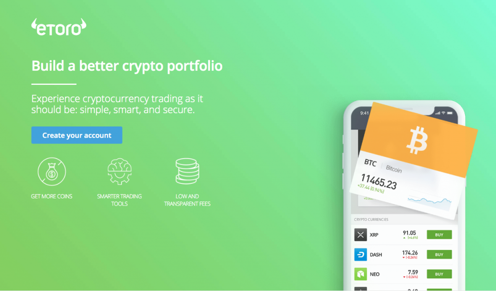 Etoro Homepage - Build A Better Crypto Portfolio